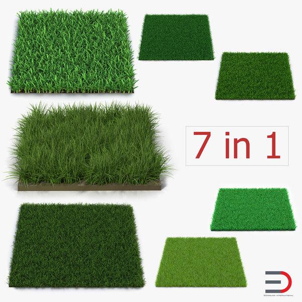 3d grass fields