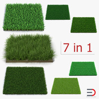 3d grass fields