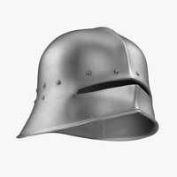 sallet helmet 3d model