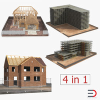 3d model house construction set