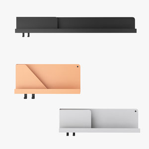 3d muuto folded shelves
