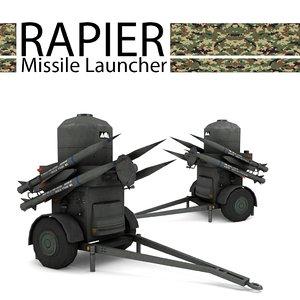 3d rapier missile launcher