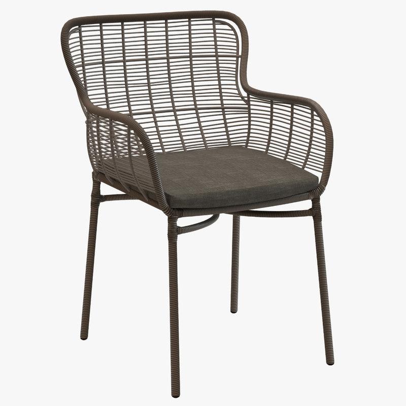 3d mudo maxime armchair rattan chair