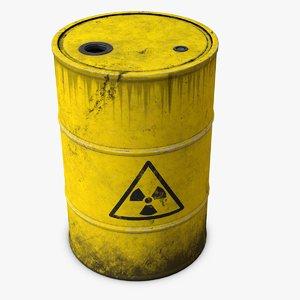 3d model radioactive barrel