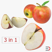 apple fruit 2 3d max