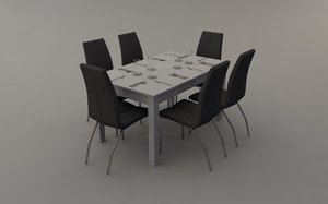 c4d dining room table chairs