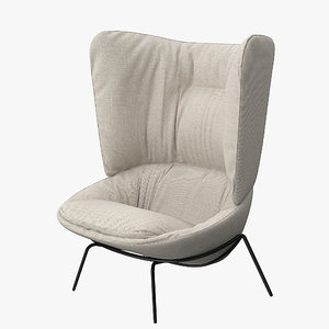 chair wingback ladle 3d max