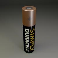 aaa battery 3d obj