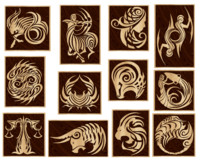 Wooden Zodiac Signs