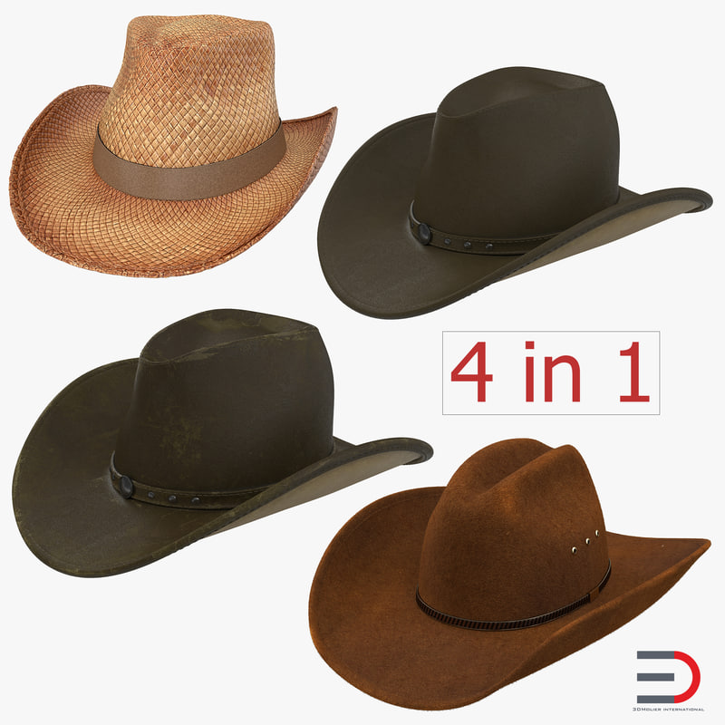 old cowboy hats 3ds