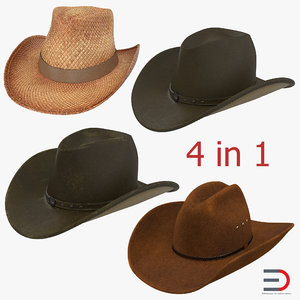 old cowboy hats 3ds