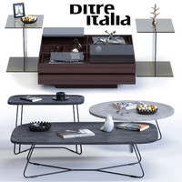 3d ditre italia coffee tables model