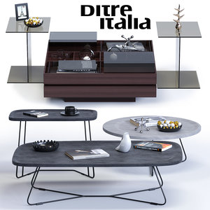 3d ditre italia coffee tables model