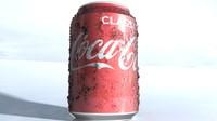 3d coca-cola classic aluminum model