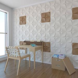 wall pattern a02 3d max