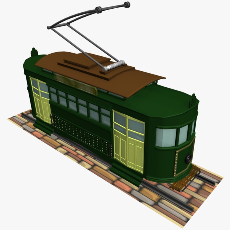trolley 3d 3ds