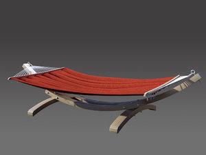 wooden hammock 3d max