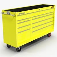 3d tool storage yellow model