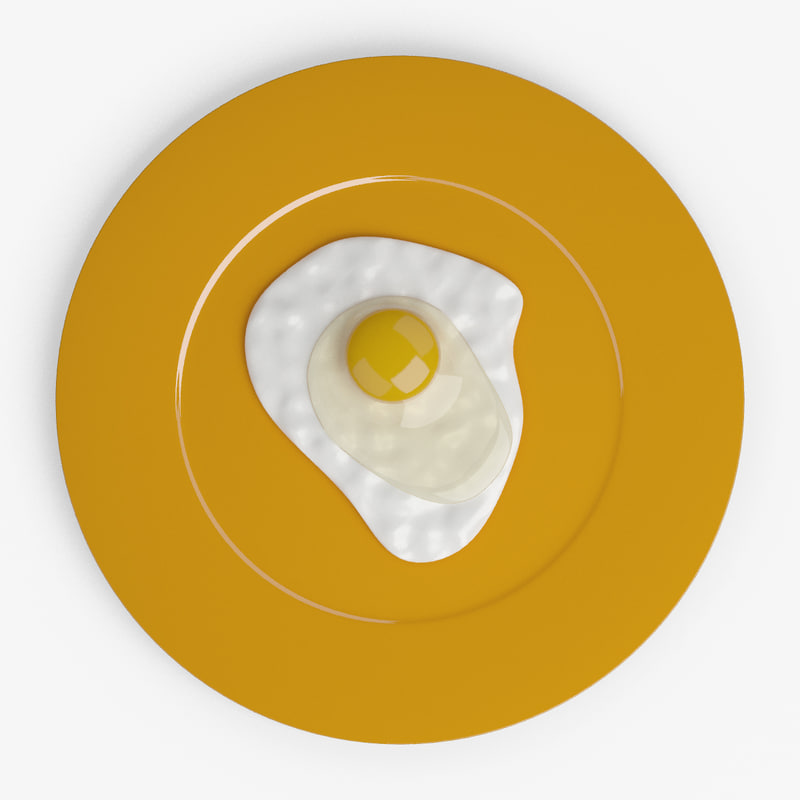3d model yolk fried