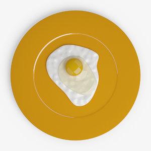 3d model yolk fried