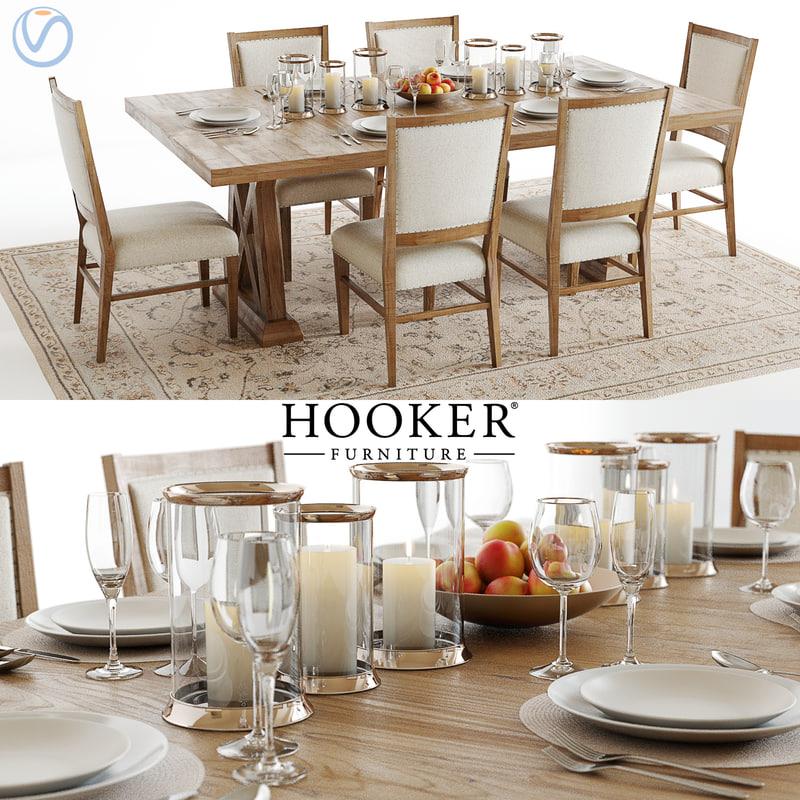 hookers geo trestle table 3d model