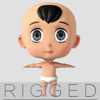 cartoon Baby rigged  v1