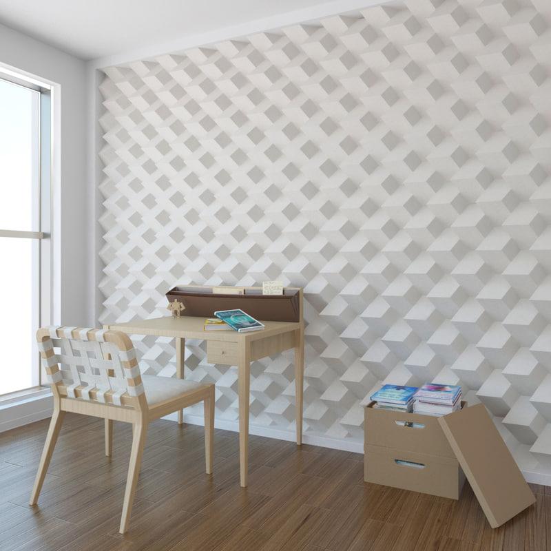 3d wall pattern a05