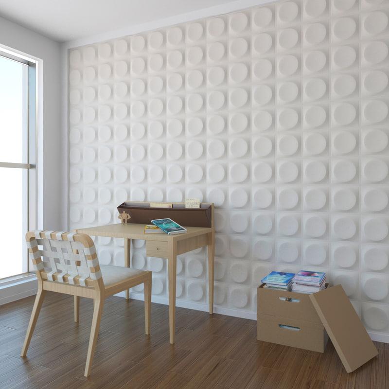 wall pattern a04 obj