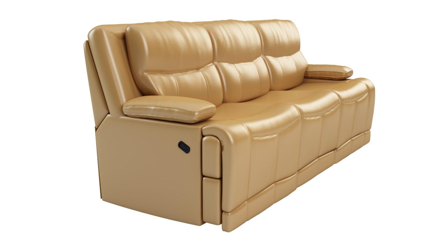 golston reclining sofa 3d max