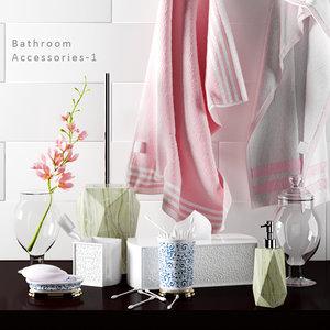 3d bathroom accessories