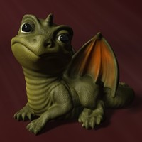 3d cartoon dragon baby