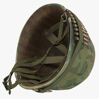 M1 Combat Helmet - With Cover - Flipped