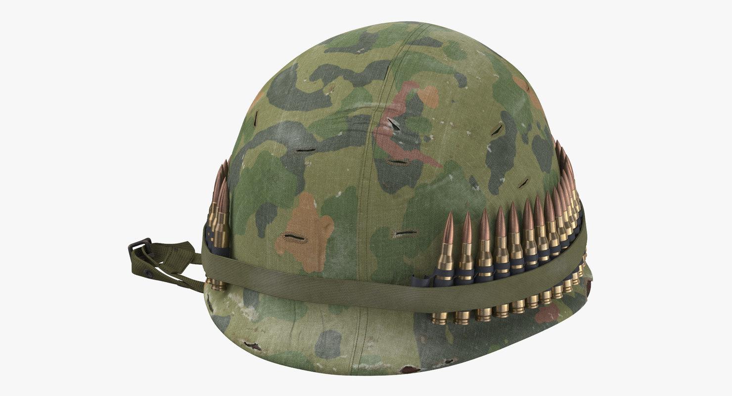 3d m1 combat helmet cover model