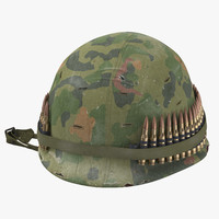 3d m1 combat helmet cover model