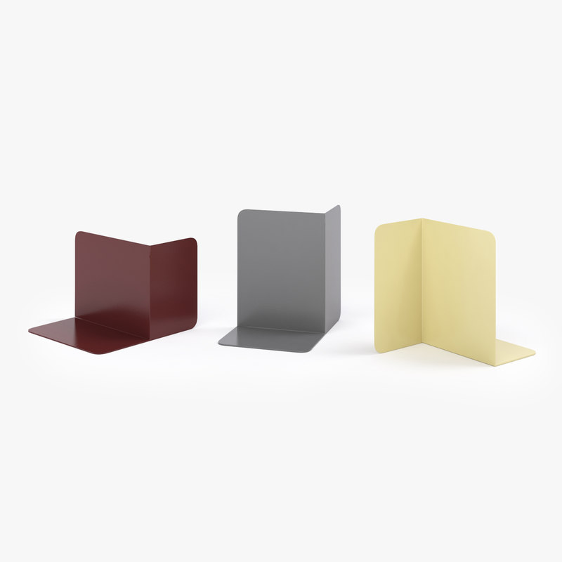 3d model of muuto compile bookends