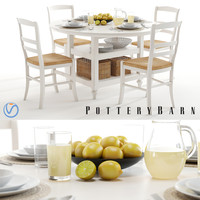 pottery barn shayne table 3d max