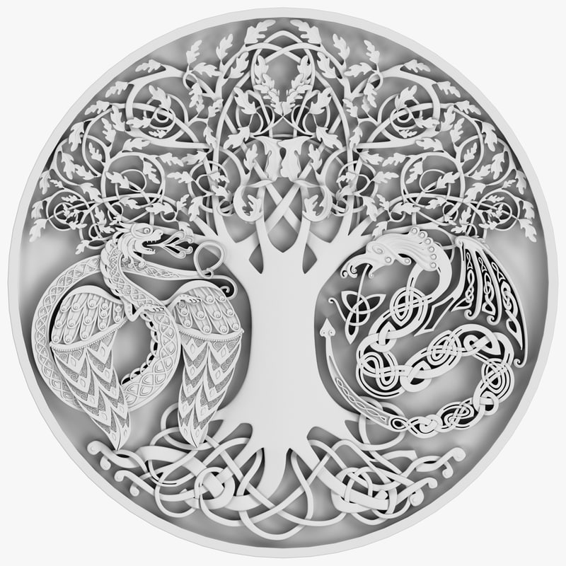 3d celtic ornament 09 model