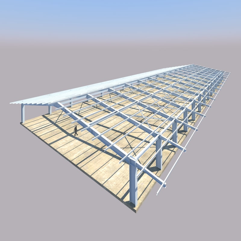 building steel structure lpg 3d dxf