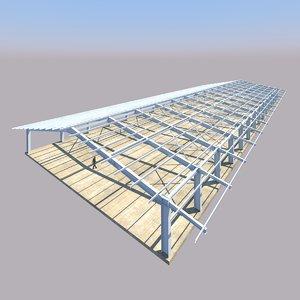 building steel structure lpg 3d dxf