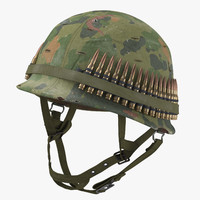 M1 Combat Helmet - With Cover - Worn