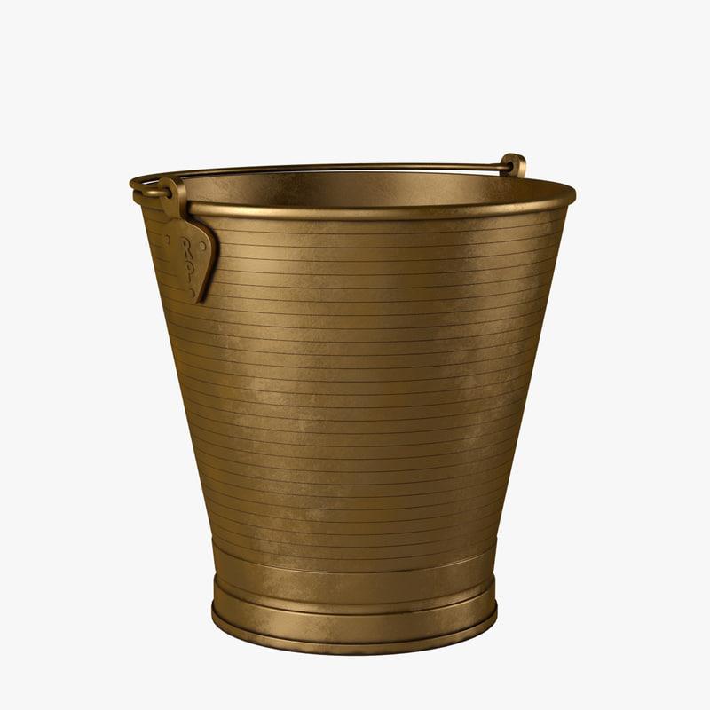 3d model of decor pail