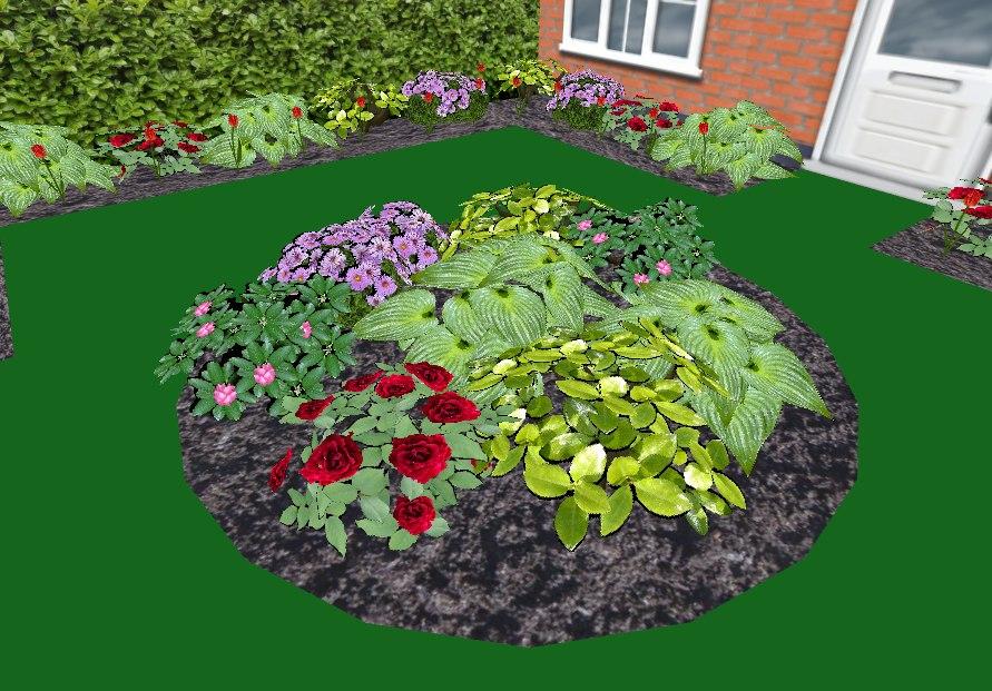 garden flowers plants 3ds
