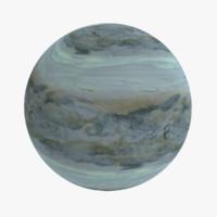 oceanic exoplanet 3d model