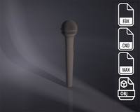 3d microphone model