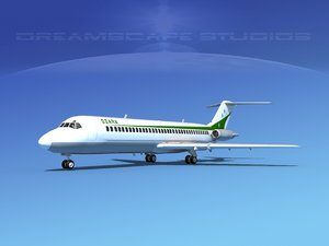 3ds dc-9-30 dc-9 airliner