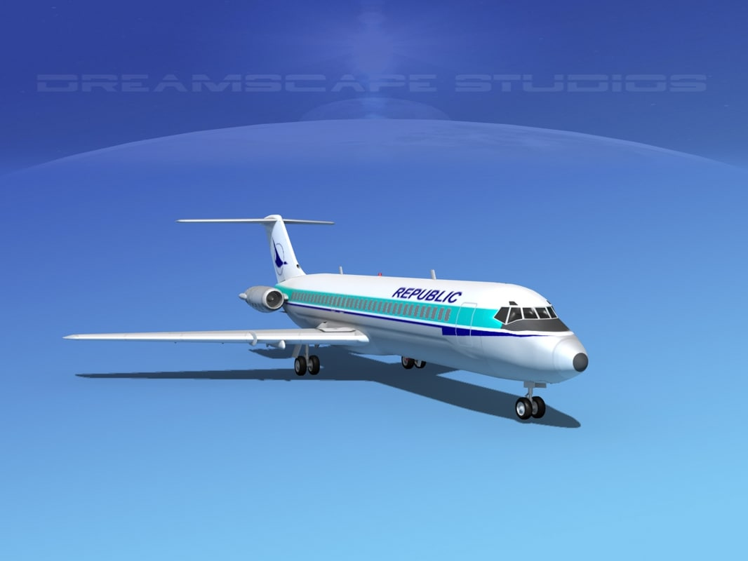3d model dc-9-30 dc-9