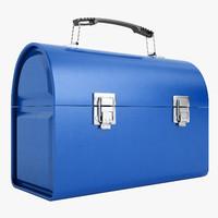 3d model metal lunch box