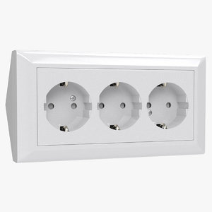 3d electrical outlet model