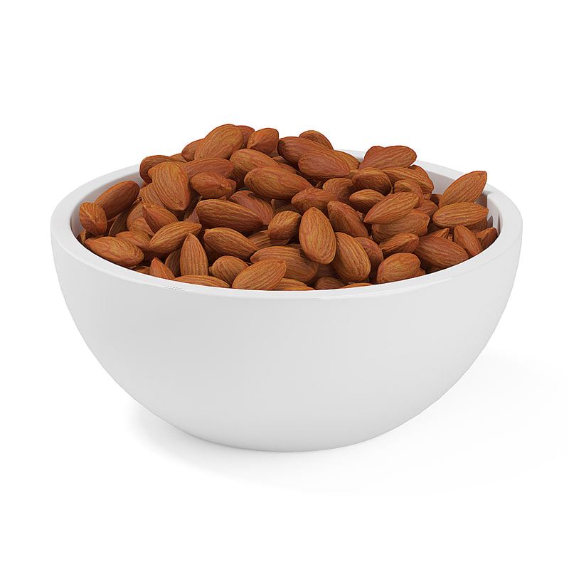 almonds bowl 3d max