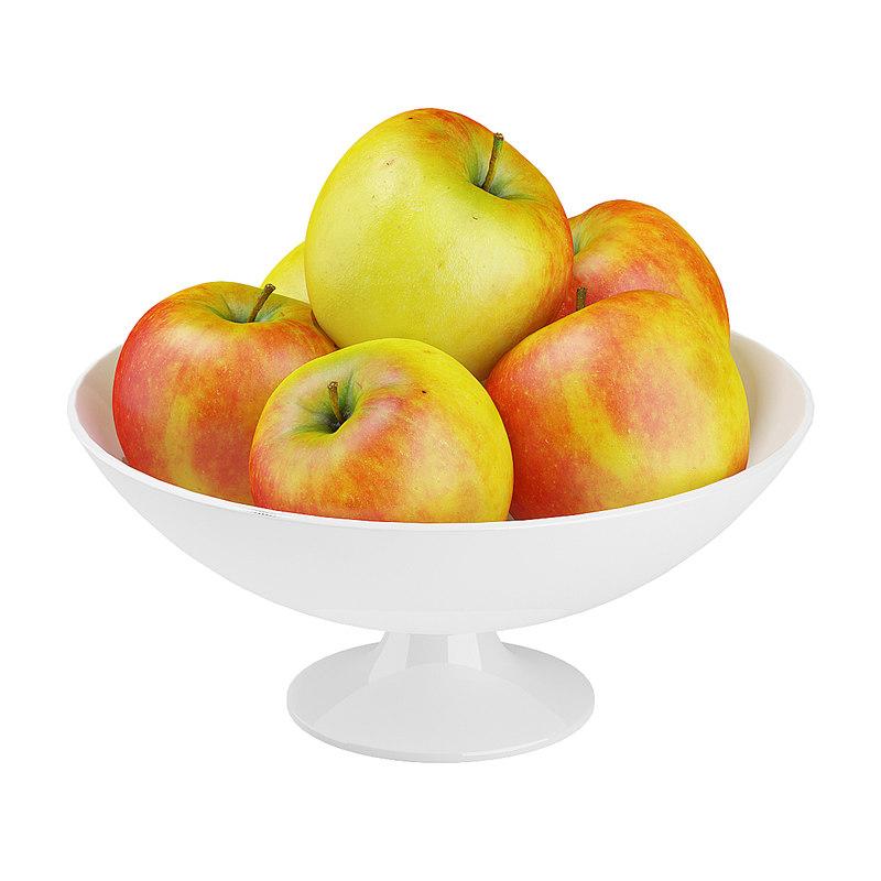 apples bowl 3d model